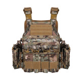 YAKEDA GHOST Modular Tactical Vest Plate Carrier Vest- Night Camo