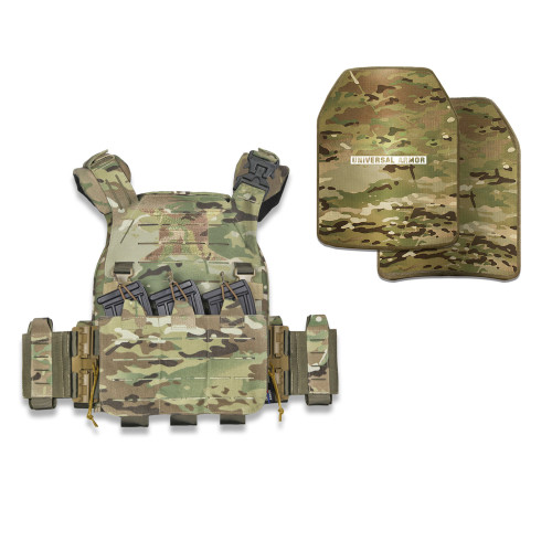 UTA X-RAPTOR Plate Carrier and NIJ Level IIIA  Body Armor Package