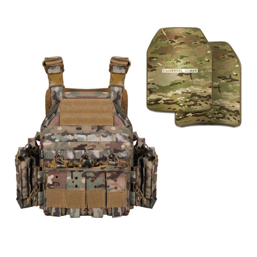 Yakeda Ghost Plate Carrier and Universal Armor NIJ Level IIIA Body Armor Package