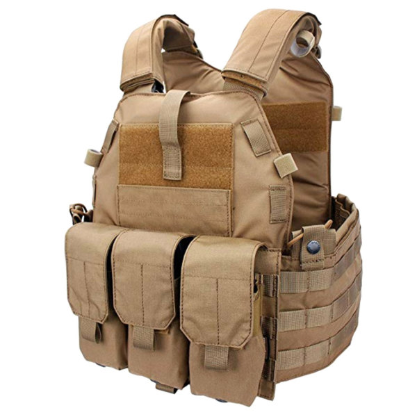 EmersonGear 6094K Plate Carrier Tactical Vest Sets M4 Triple Mag Pouch