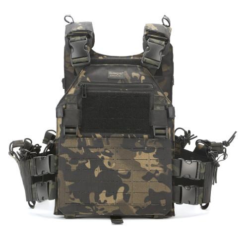 BUCKSGEAR Quick Release Combat Vest Laser Cutting MOLLE System Military Wargame Tactical Vest