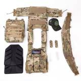 UTA X-Merlin Mission-Ready Laser Cutting Plate Carrier Tactical Vest Kit with 3 L Flakpack