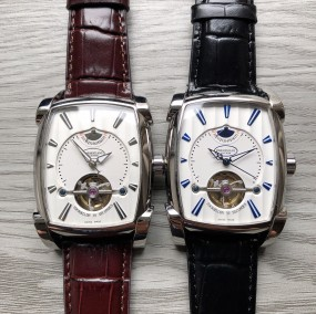 Luxury Brand fashion Women's men's design Mechanical watch Calfskin strap watches