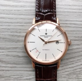 Luxury Brand Fashion Classic design Men's Automatic mechanical movement Calfskin strap Calendar watches