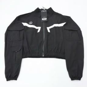 Men's Women's Long sleeved Logo print Loose stand collar Drawstring pocket jackets Coats trousers pants sets