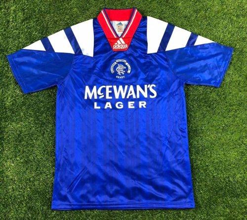 1992 / 1994 Rangers Soccer Jersey