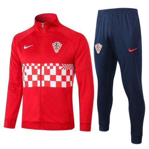 Croatia red 20-21 Jacket Training Suit(Top + Pant)