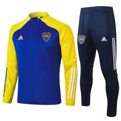 Boca color blue sleeve yellow 20-21 Jacket Training Suit(Top + Pant)