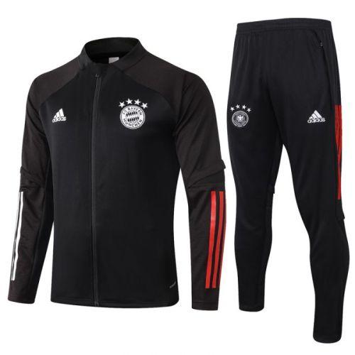 Bayern Black 20-21 Jacket Training Suit(Top + Pant)