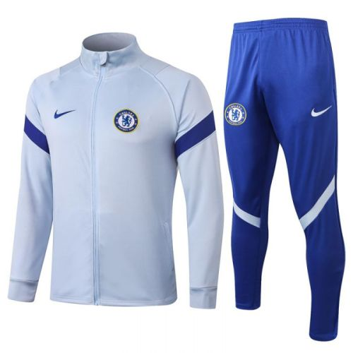 Chelsea high collar light gray 20-21 Jacket Training Suit(Top + Pant)