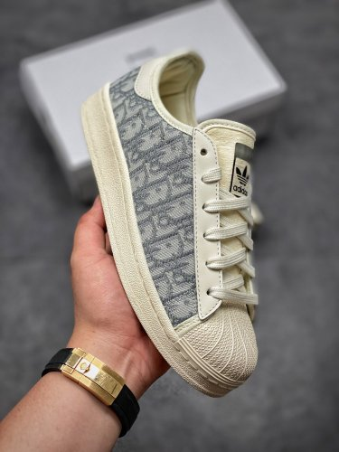 Dior joint shell-toe top layer low-top casual sneakers