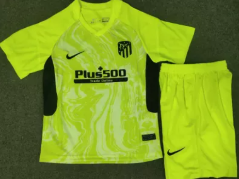 20/21 Atletico Madrid Kids third soccer Jersey and short kit