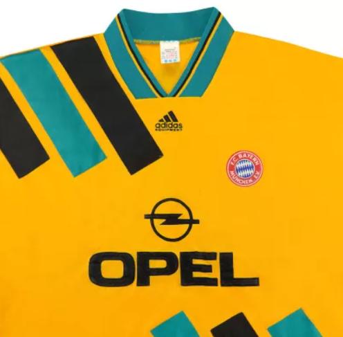 1993-1995 Bayern Munich away retro jersey
