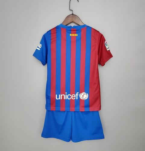 21/22 Barcelona Kids home soccer Jersey and short kit