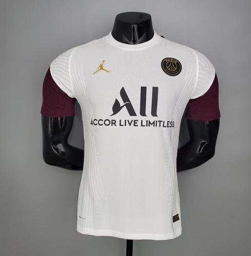 20/21 PSG player version White training suit short sleeve training suit
