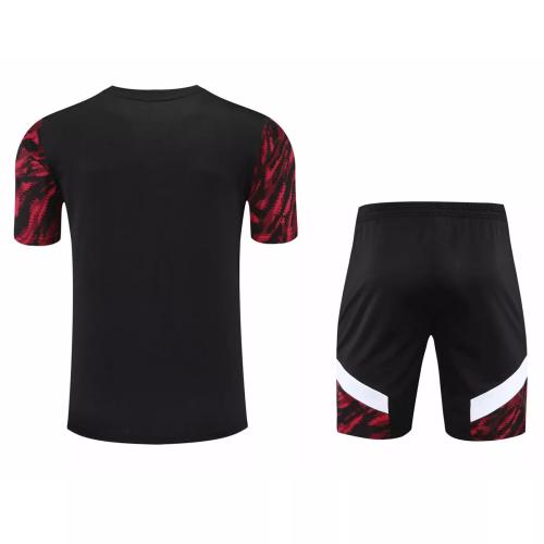 Mens AC Milan Short Training Suit Red 2021/22