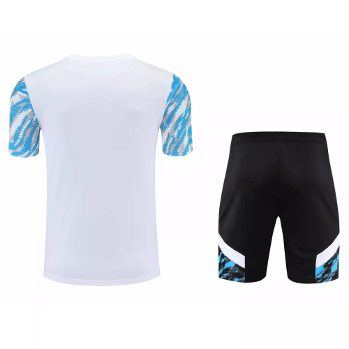Mens Olympique Marseille Short Training Suit Light Blue 2021/22