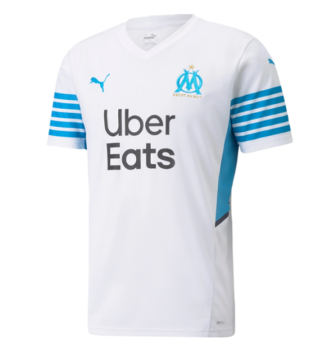 21-22 Thai Version Olympique Marseille home soccer Jersey