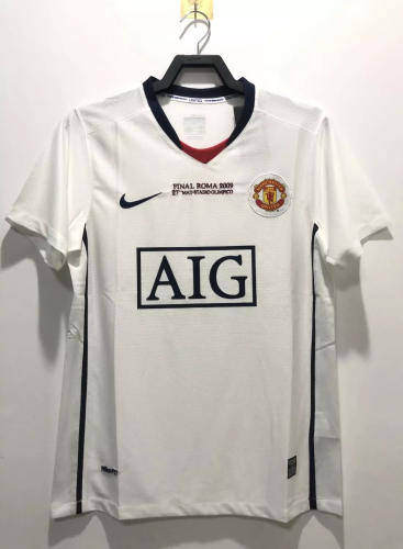 08/09 Manchester United Away Retro Jersey Champions Version