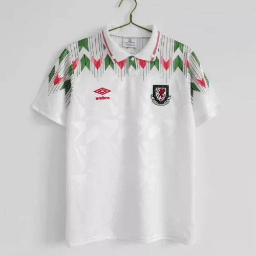 90/92 Welsh Away Retro Jersey Fans Version