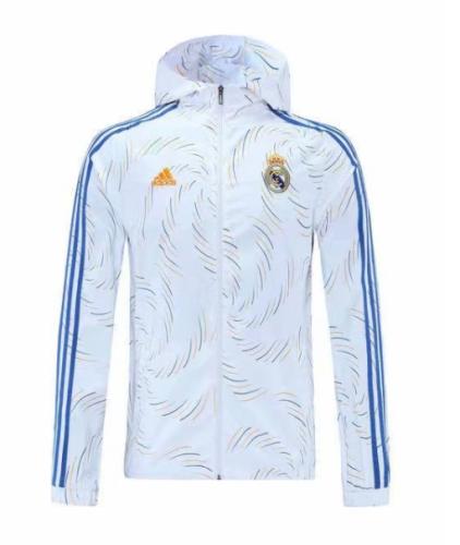 2021-2022 Real Madrid White Windbreaker