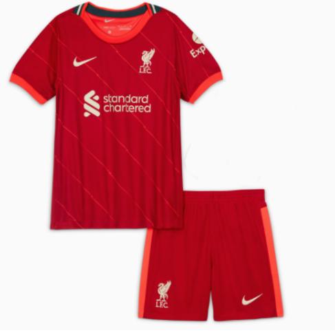 21/22 Liverpool Home Kids Jersey