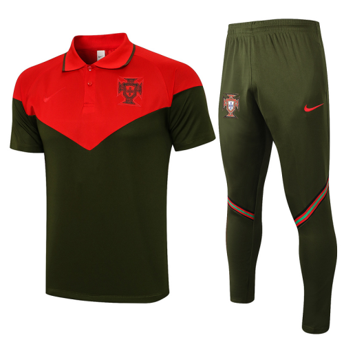 Portugal 20/21 Red/Dark Green Training Kit Jerseys