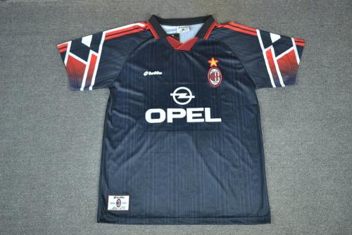 AC Milan 97/98 Third Black Soccer Jersey