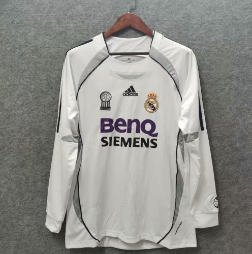 Real Madrid 06/07 Home Long Soccer Jersey