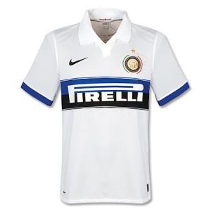 Inter milan 09/10 Away White Soccer Jersey