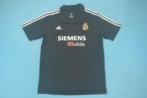 Real Madrid 02/03 Away Black Soccer Jersey