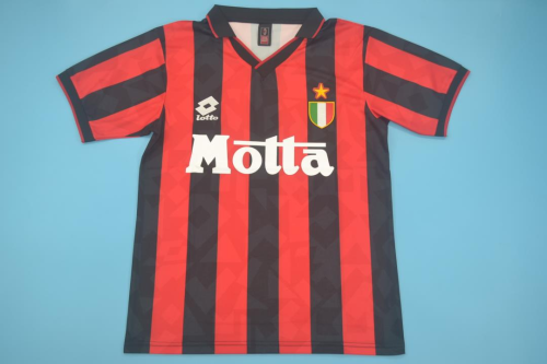 AC Milan 93/94 Home Soccer Jersey