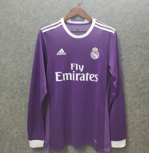 Real Madrid 16/17 Away Long Purple Soccer Jersey