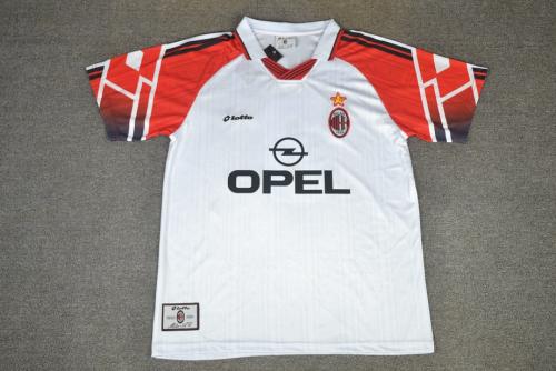 AC Milan 97/98 Away White Soccer Jersey
