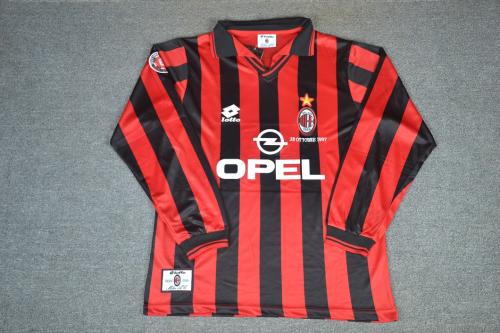AC Milan 97/98 Home Long Soccer Jersey