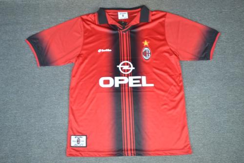 AC Milan 97/98 Home Soccer Jersey