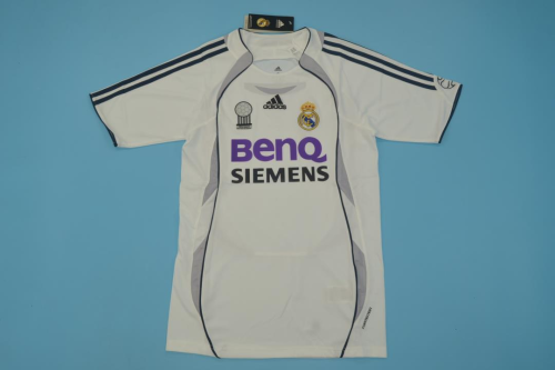 Real Madrid 06/07 Home Soccer Jersey