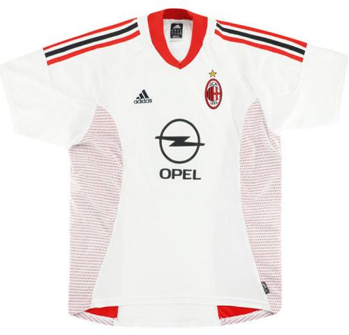 AC Milan 02/03 Away White Soccer Jersey