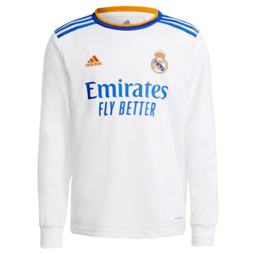 REAL MADRID HOME LONG SLEEVE SOCCER JERSEY 21/22