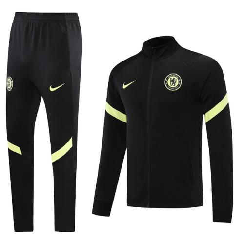 Chelsea 20/21 Tracksuit - Yellow/Black 2