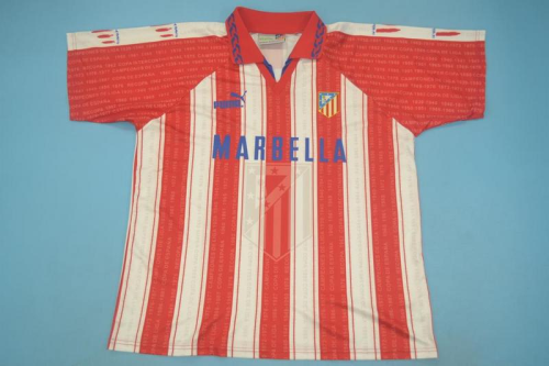 Atletico Madrid 95/96 Home Soccer Jersey