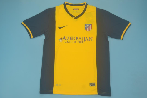 Atletico Madrid 13/14 Away Yellow Soccer Jersey