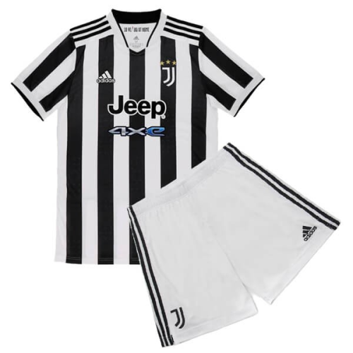 21/22 Juventus Kids home soccer Jersey and short kit