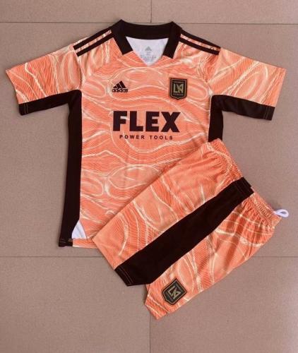 Kids-Los Angles FC 21/22 GK Orange Soccer Jersey