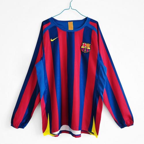 Barcelona 05/06 Home Long Soccer Jersey