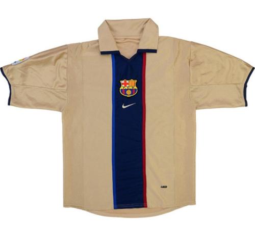Barcelona 01/02 Away Soccer Jersey