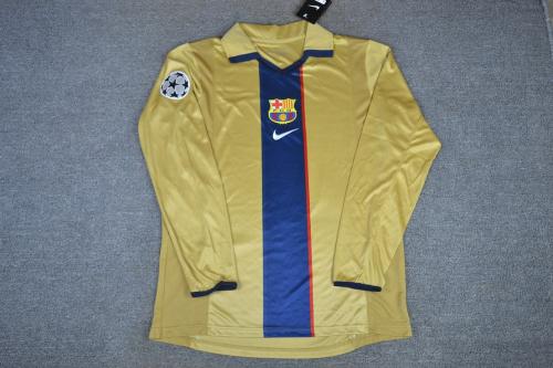 Barcelona 01/03 Away Long Soccer Jersey