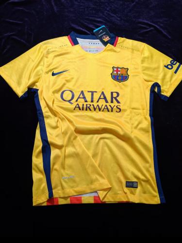 Barcelona 15/16 Away Yellow Soccer Jersey