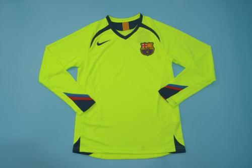 Barcelona 05/06 Away Long Green Soccer Jersey