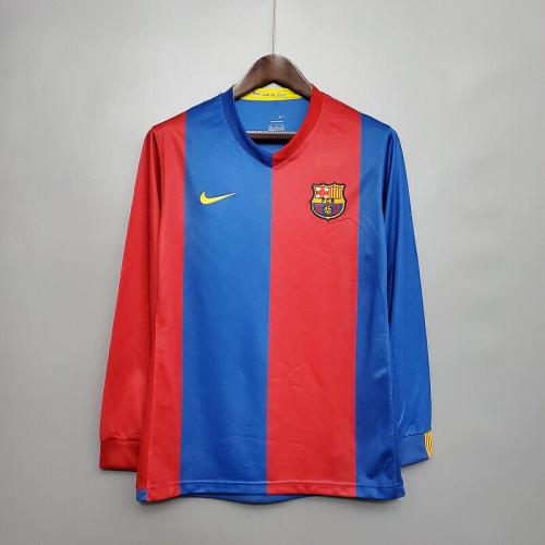 Barcelona 06/07 Home Long Soccer Jersey